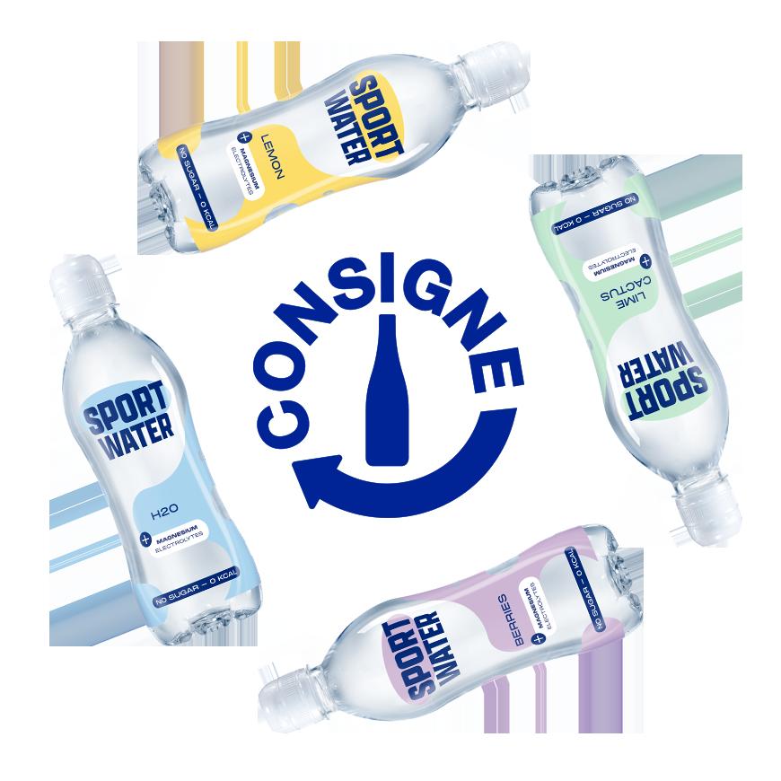Consigne sur les bouteilles sportwater